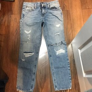 Lucky Brand Boyfriend Jeans 25 women's distressed